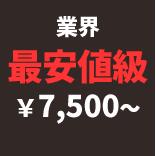 料金は、蜂の巣駆除業界で最安値の7500円から。